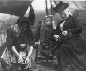 Mother Jones in tent city